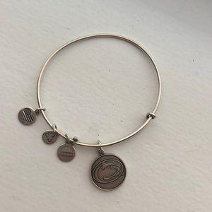 Alex & Ani Silver Penn State Bangle Bracelet